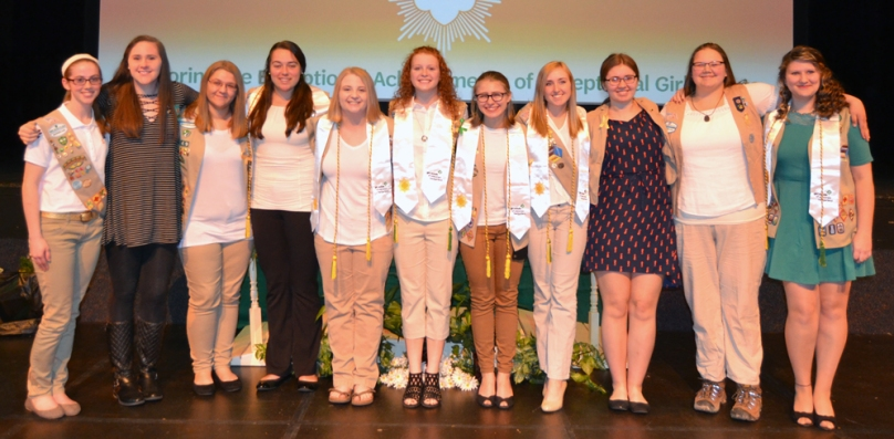 2017 Girl Scout Gold Awardees
