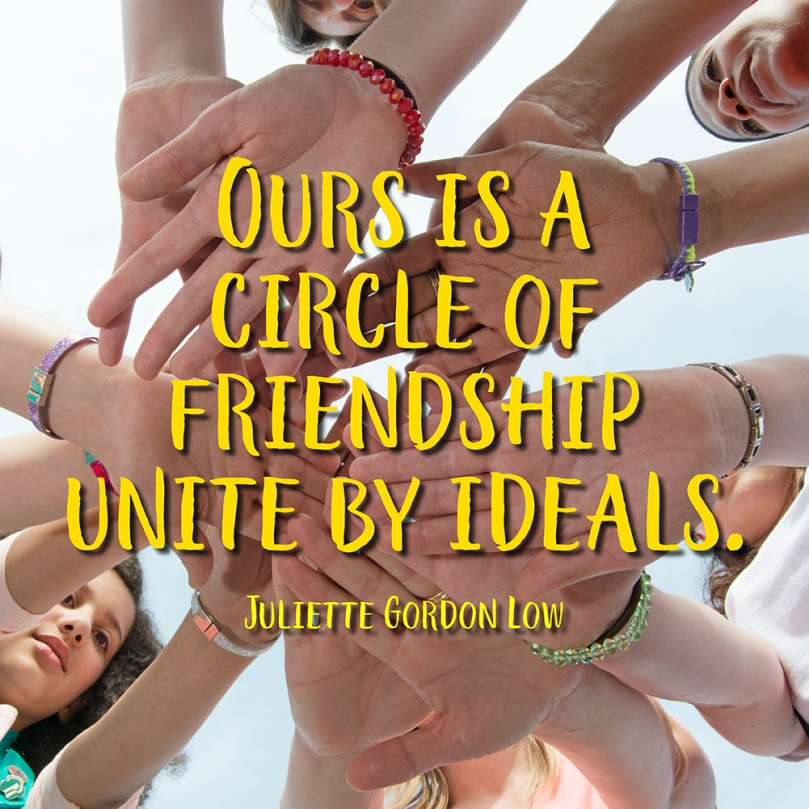Ours is a circle of friendship unite by ideals.