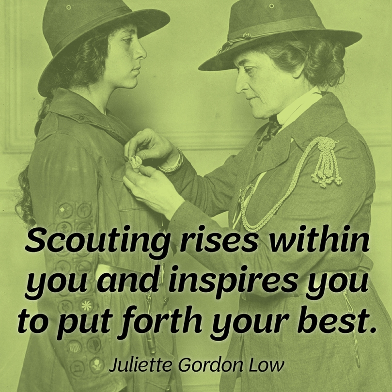 Scouting rises within you and inspires you to put forth your best.